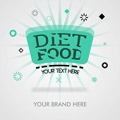 Diet Food Recipes. American Diet Tips. Diet Food Dish. Cover Page. Can Be For Promotion, Advertising poster