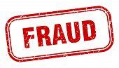 Fraud Stamp. Fraud Square Grunge Sign. Fraud poster
