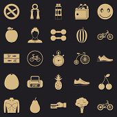 Bicycle Tour Icons Set. Simple Set Of 25 Bicycle Tour Icons For Web For Any Design poster