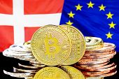 Concept For Investors In Cryptocurrency And Blockchain Technology In The Denmark And European Union. poster