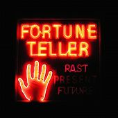 stock photo of fortune-teller  - fortune teller neon sign - JPG