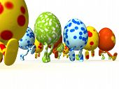 foto of easter_break  - Easter eggs that can run on a white background  - JPG