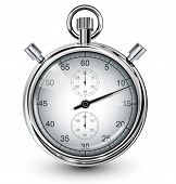 image of chronometer  - Vector stop watch - JPG