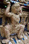 stock photo of hanuman  - Gold statue of Hanuman - JPG