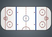 stock photo of ice hockey goal  - Illustration of a hockey field for tactical consideration - JPG