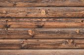 Old Cracked Wooden Boards, Brown Planks. Surface Of Shabby Weathered Parquet. Woody Grunge Surface,  poster