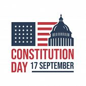 American Constitution Day National Day Of America Logo Badge Vector Isolated On White Background poster
