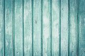 Light Green Wooden Fence In Lines. Wooden Painted Boards With Scuffs. Old Wood Texture Background. C poster