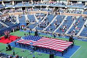 The opening ceremony of  US Open men final match  at Billie Jean King National Tennis Center
