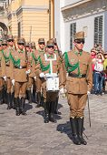 Guards Of Honor At The Presidential Palace In Budapest