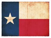 stock photo of texas state flag  - Flag of the US state Texas created in grunge style - JPG