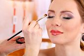 image of face-powder  - make up backstage - JPG