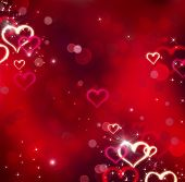 image of corazon  - Valentine Hearts Abstract Red Background - JPG