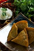 stock photo of samosa  - Indian samosa - JPG
