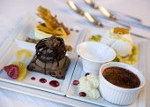 pic of foursome  - A foursome of delicious specialty desserts at a resort hotel - JPG