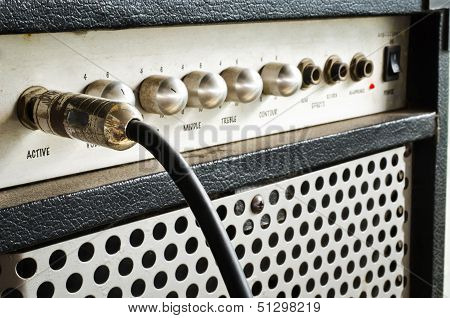 Guitar Amplifier With Jack Cable poster