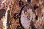 Rusty Hub Of Tractor Wheel - Horizontal Format