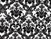stock photo of damask  - Monochrome seamless damask pattern - JPG