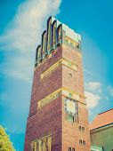 Retro Look Wedding Tower In Darmstadt