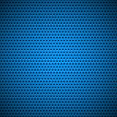 Blue Seamless Circle Perforated Grill Texture