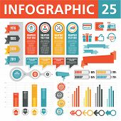 foto of origami  - A set of conceptual elements to create your infographics - JPG