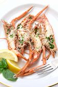 picture of norway lobster  - grilled scampi - JPG