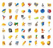 stock photo of money prize  - Icons for business finance and office - JPG
