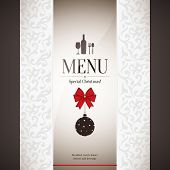 Special christmas restaurant menu design