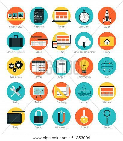 Responsive Web Design Icons Set poster