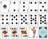 picture of joker  - Playing cards spade suit - JPG