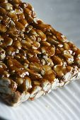 stock photo of groundnut  - Chikki is a traditional ready - JPG