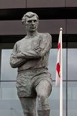 foto of bobbies  - Bobby Moore statue outside Wembley Stadium England - JPG