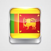 vector 3d style flag icon of sri lanka