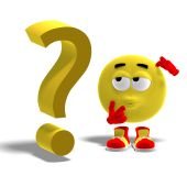 Cool And Funny Emoticon Has A Question Mark