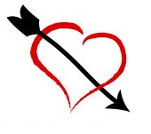 picture of love heart  - a illustration of a Heart and arrow - JPG