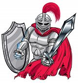 stock photo of paladin  - A Knight in shiny armor ready to protect - JPG