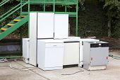 pic of discard  - Discarded Dishwashers at local recycling center - JPG