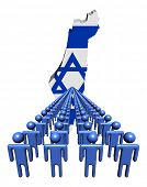 picture of israel people  - Lines of people with Israel map flag illustration - JPG