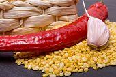 Spicy Lentils Ingredients poster