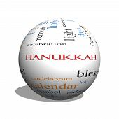 foto of dreidel  - Hanukkah 3D sphere Word Cloud Concept with great terms such as dreidel jewish holy and more - JPG