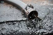 stock photo of oil well  - this is crude oil from oil well - JPG