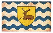 Grunge Flag Of Hertfordshire (great Britain) poster