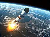 pic of starship  - Cargo Rocket Takes Off - JPG