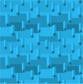 foto of linoleum  - Blue seamless vector pattern with linoleum rolls - JPG