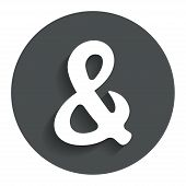stock photo of ampersand  - Ampersand rounded sign icon - JPG