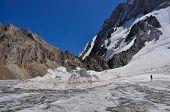 picture of shan  - Glacier below snow - JPG