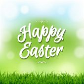 picture of happy easter  - Happy Easter Card With Bokeh With Gradient Mesh - JPG