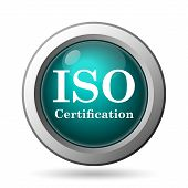 stock photo of certificate  - ISO certification icon - JPG