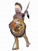 stock photo of native american ethnicity  - 3D Render of an Native American Indian  - JPG