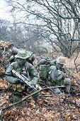 picture of raid  - Group of jagdkommando soldiers Austrian special forces during the raid